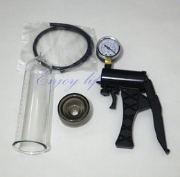 Wholesale Manual Operation Penis Pump Vacuum Enhancer Pump with Instrument Panel Penis Enlargement Adult Sex toys for Man Sex products