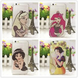 Wholesale Snow White Wallets - Snow White Mickey Mouse Character Case Coque for Apple iPhone5 5S 6 6Plus Soft Silicon UltraThin Phone Back Cover Fondas
