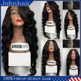 Wholesale Top Quality Full Lace Wig Cheap Lace Front Wigs With Bangs Body Wave Brazilian Virgin Human Hair Wigs Black Women With Baby Hair