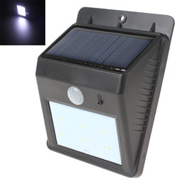 Wholesale Super bright Lm Waterproof PIR Motion Solar Energy Powered LED Light for Walkway Garden Yard LEG_060