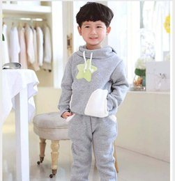 Best Suits Child Clothes Kids Clothing Korean Boys Girls Hoody Hoodie 2015 Autumn Winter Long Trousers Children Set Kids Suit Outfits