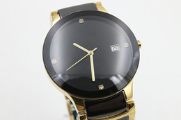 Wholesale Hot Classic luxury watch High quality man s sapphire quartz water resistant black ceramic watch Wristwatches Commerce Watches Lovers Gift q7