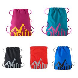 Hot Lightweight String Backpack 5 Colors Outdoor Draw String Bag Water-resistant Promotional Bags for Cycling Shopping