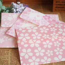 Wholesale can mixed Fresh Romantic Pink Department Envelope Greeting Cards Shelves Cherry Powder XF223