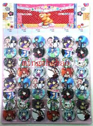 2015 New Arrive Sale 2 Sheets 96 Pcs Cartoon Japanese anime Date A Live New Style Pattern Badge Button Pin 4.5cm Gift