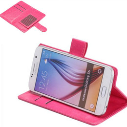 Wholesale 360 Rotating Universal Wallet PU Flip Leather Case Credit card Cover For Inch Cell Phone Mobile Phone