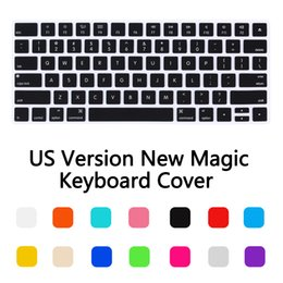 Wholesale-New US Version Magic Wireless keyboard Silicone Keyboard Cover Protector Skin for Apple New Magic Keyboard 2 Release in 2016