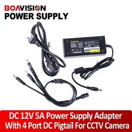 Wholesale CCTV Camera port Power Supply V A use for cameras CCTV camera adaptor AC100 V