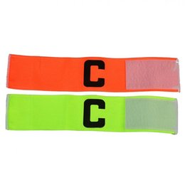 Wholesale-2pcs Elastic C Prints Football Soccer Player Armband Good for Sports Game Camping Match,