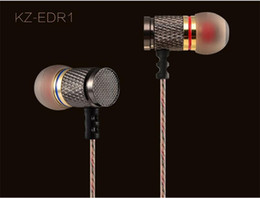 Wholesale Best Quality KZ EDR1 HiFi Enthusiast Bass Earphone Headphones copper forging MM shocking anti noise microphone sound for Iphone s Samsung
