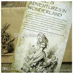 Wholesale X141mm single page Alice s Adventures in Wonderland with story postcard greeting confessions card
