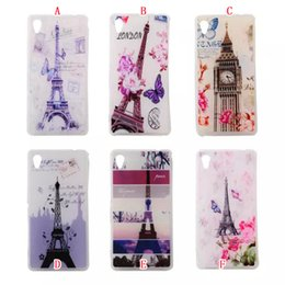 Wholesale France Paris Eiffel Tower The Big Ben Clock Butterfly Flower Soft TPU Silicone Gel Case For Sony Ericsson Xperia M4 Aqua T3 Back skin cover