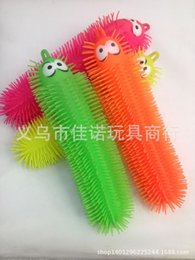 Wholesale Silicone Puffer Toy Novelty Toys Cute Caterpillar Colors Amusement Toys CM