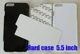 Wholesale For iPhone plus heat press print sublimation phone case blank aluminium insert custom photos Fedex DHL