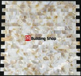 Wholesale Mother of pearl mosaic tile MOP012 brick sea shell mosaic mother of pearl tiles bathroom wall tile shell mosaic backsplash tiles