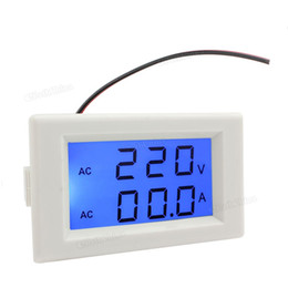 Wholesale YB4835 V A Split Type LCD Digital Dual Display AV Voltmeter Ammeter with Blue Backlight EGS_141