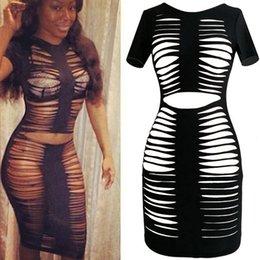Wholesale 4130 AliExpress ebay hot streak hole explosion models Women Slim dress sexy nightclub Dress Ladies