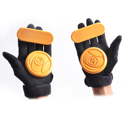Wholesale L Freeshipping downhill skateboard brake parts fashional skateboard skating safety gear protective gloves palm Professional