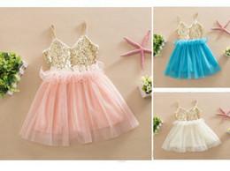 2016 INS baby girl kids Frozen dress sequin dress flower tutu dress floral tutu dress pettiskirt princess tulle layers fluffy lace pleated 5
