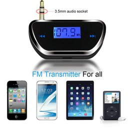 Wholesale US Stock FM20 Universal mm Car FM Transmitter Wireless LCD Stereo Car FM MP3 Transmitter Audio Player For Phone Tablet