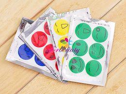 Wholesale Smiley Face Mosquito - Non Toxic Mosquito Repellent Stickers Smiley Face Stickers All Natural Repeller Patch Natural Essential Oil Mat 6pcs set 100sets