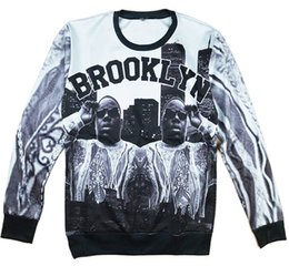 Alisister new fashion women men 3d character sweatshirts Biggie smalls Brooklyn printed pullover hoodies Harajuku style sweater