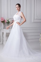 Wholesale Hot Sell Halter With Strapless Cheap White Organza Princess Ruffles Waist Romantic Bride Gowns Customization Affordable Price No Tax