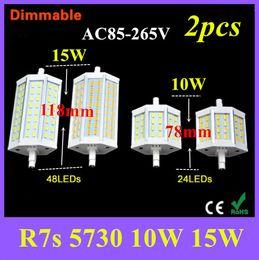 R7S LED Lamp SMD5730 78mm 118mm LED R7S Light Bulb 85V -265V 110V 220V Energy Saving Perfect Replace Halogen Light Lampada