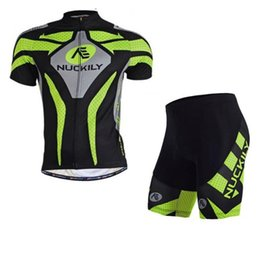 Wholesale-Man's Cycling Jersey + Shorts Quick Dry Breathable Jerseys Mountain Sportswear Racing Bicycle Cycling Clothing Size M-XXL