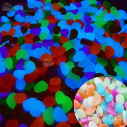 Wholesale fish tank Glow aquarium fish tank decorative landscaping pebbles bright luminous luminous stone rock g luminous stone