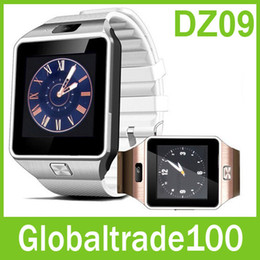 Wholesale Smartwatch Latest DZ09 Bluetooth Smart Watch For Apple Samsung IOS Android Cell phone inch SIM Card Free DHL