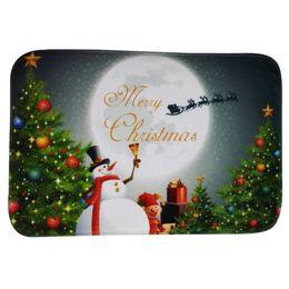 Wholesale Christmas Doormat Non Slip Rectangular carpets quot X quot Xmas Santa Snowman Design Bathroom Kitchen Rugs Mat New arrival