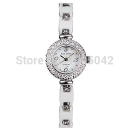 Wholesale-Free shipping!!!Women Watch Bracelet,Women Jewelry, Brass, with Porcelain & Shell & Glass, platinum plated