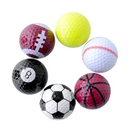 Wholesale Set Novelty Assorted Creative Champion Sports Golf Double Balls Joke Fathers Day Best Present Rubber
