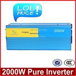 Wholesale 2000W zuivere sinus omvormer off grid inverter w pure inverter pure sine wave inverter kw W Ren Converter