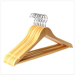 Wholesale 2015 Solid Wood Hangers Clothing Cheap Hangers Coat Hanger Clothes Pegs Home Essentials Outdoor Airing Supplies Percha Racks CCA1845