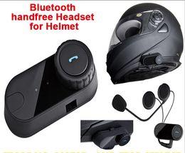 Wholesale 1pcs box Waterproof Motorcycle Helmet Bluetooth Headset Moto Interphone Hand Free For Phone Music MP3