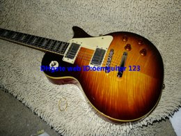 Guitar Factory Honey Flame top Electric Guitar VOS ONE Piece Neck guitars best high quality cheap