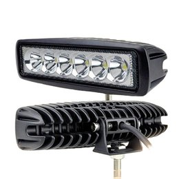 18W LED Work Light Bar Lamp Auto Car Working Light For Jeep Truck Boat Off Road 12V 6500K Diecast Aluminum PMMA Flood Spot