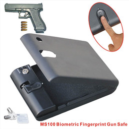 Wholesale MS100 Micro Vault Biometric Fingerprint Safe Lock Box with key