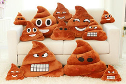 50PCS Hot Decorative Cushion Emoji Pillow Gift Cute Shits Poop Stuffed Toy Doll Christmas Present Funny Plush Bolster Pillows