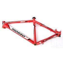 Wholesale Custom Bicycle Frames Inch Aluminum Alloy Bike Frame Red White Glossy Mountain Bike Frame on Discount TB