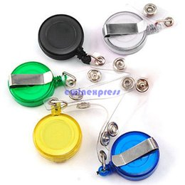 Wholesale Arts and Crafts Recoil Key Ring Retractable Pull Chain with Belt Clip ID Holder Badge Reel Strap