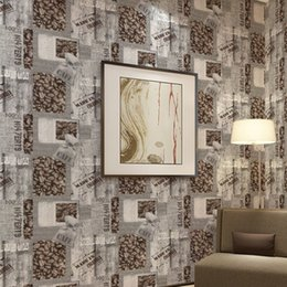Wholesale House Room Wallcovering Wallpaper Coffee Bean Textured Wall Paper English Letters Paper Wallpaper For Coffee Bar Decoration