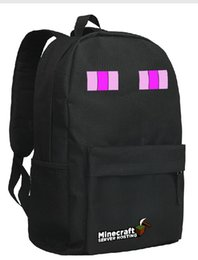Wholesale black backpack school bag in stock same day shippin black enderman student backpack BY0000