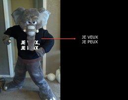 Customized elephant Mascot Costume Adult size+LOGO,free shippinga