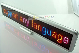 Wholesale 22 quot Tri color LED Signs billboard LED scrolling display board LED text displays USB Recharge LED mini display Support multi language