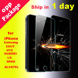Wholesale For Iphone plus plus Tempered Glass Screen Protector mmTreated Glass for iPhone samsung galaxy S5 dhl free SSC012