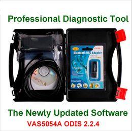 Wholesale Skoda Diagnostic Vas - NEWEST VAS 5054A with OKI VAS5054A ODIS 2.2.4 Bluetooth Support UDS Protocol VAS 5054A With Plastic Carry Case Diagnostic Tool Newly Updated