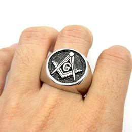 Brand New Fashion Gift For Men's Biker Stainless Steel Silver Black Masonic Band Casting Freemason Ring Band Size 8-13#
